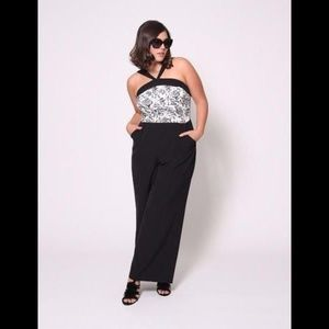 Christian Siriano Jumpsuit With Jacquard Top 12
